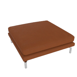 Como Ottoman in Leather, Canyon