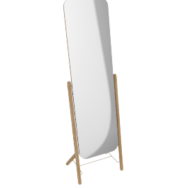Hatten Freestanding Mirror, Oak