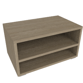 Match Low Storage Unit, Grey Ash