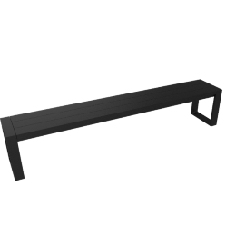 Eos Communal Bench, Black