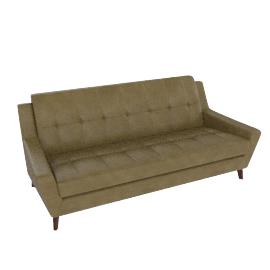 G Plan Vintage Fifty Three Large Leather Sofa, Olive Green