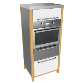 Single Oven Freestanding Kitchen Unit, White