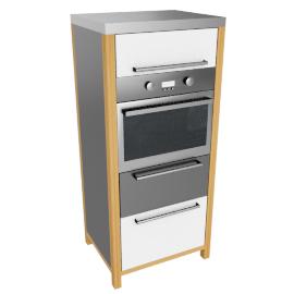 Single Oven Freestanding Kitchen Unit, White