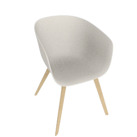 About A Chair 22 Armchair, Cream White / Oak