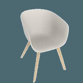 About A Chair 22 Armchair, Cream White / Oak