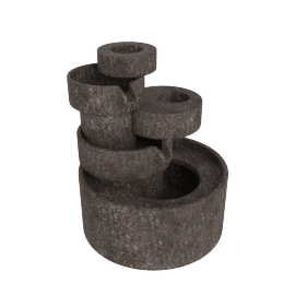 Cascade Decorative 3-Pin Fountain - 22x20x23 cms