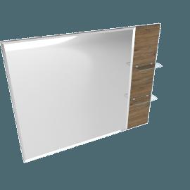 Sleek Rectangular Mirror with 2 Shelves