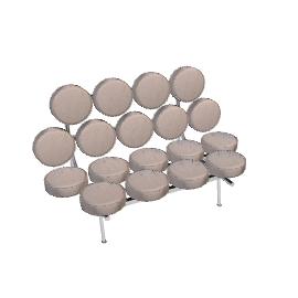 Nelson Marshmallow Sofa - Vinyl