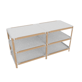 Steelwood Shelving System, White, 3x2