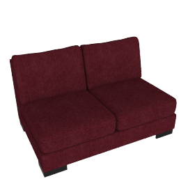 Signature 2 Seater Armless, Bordeaux
