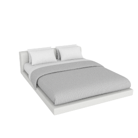 Softwall Queen Bed in Fabric, Fabric Linen Weave, Lily