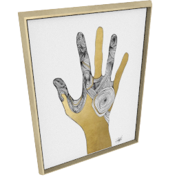 Sign Language I by KelliEllis - 30''x40'', Gold