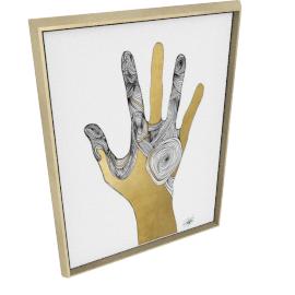 Sign Language I by KelliEllis - 30''x40'', Gold