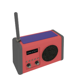 Roberts Solar DAB Digital Radio, Red