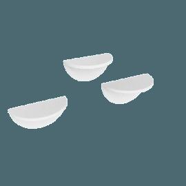 Half Moon 3-Piece Shelf, White