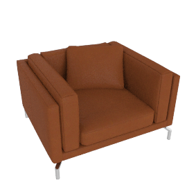 Como Armchair in Leather, Canyon