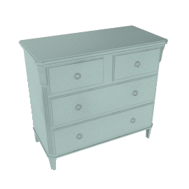 Louisa 4 Drawer Chest, Duck Egg