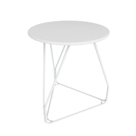Polygon Wire Table - Small, White