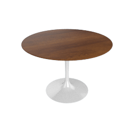 Saarinen Round Dining Table 42'', Veneer - Plt.LtWalnut