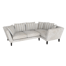 Regency RHF Large Corner End Sofa, Marlow Putty/Marlow Putty Stripe