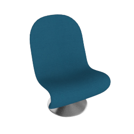 System 1 2 3 Lounge Chair by Verpan in Fabric A - Teal