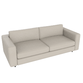 Reid 86'' Sofa in Vienna leather, Ivory