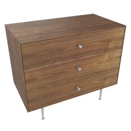 Nelson Thin Edge 3-Drawer Chest, Walnut