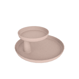 Rotary Tray, Pale Pink