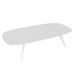 Solapa Coffee Table Low, White