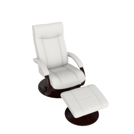 Gemini Recliner and Footstool, Vanilla