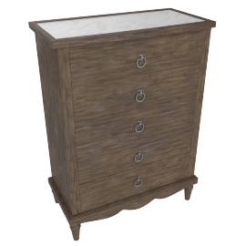 Lexington 5 Drwr Chest - Dark Grey/White