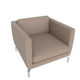 Comolino Armchair, Kalahari Leather, Grey