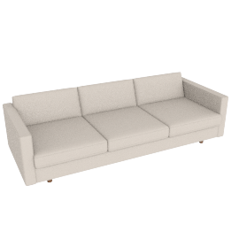 Lispenard Sofa, Kalahari Leather Gesso with Walnut Leg