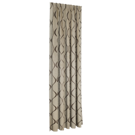 Dextra Blackout 2-piece Curtain Set - 138x300 cms, Beige