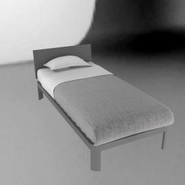 Min Bed - Plexi Headboard Twin