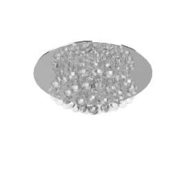 Belinda Flush Ceiling Light, Chrome/Crystal