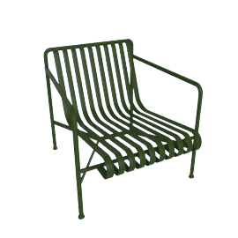 Palissade Lounge Chair, Low, Green