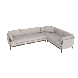 Emmy Corner Sectional, Right, Pebble Weave Buff