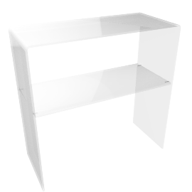 Ice Console Table, Clear