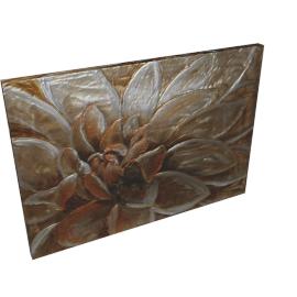 Perfect Peony Aluminium Painting - 100x3.8x70 cms