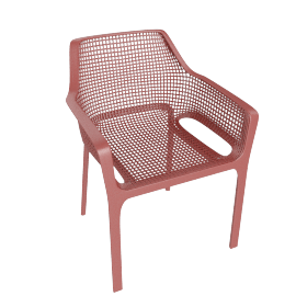 Diana Patio Chair, Red