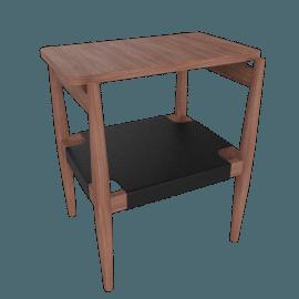 Risom Side Table, Walnut/Black