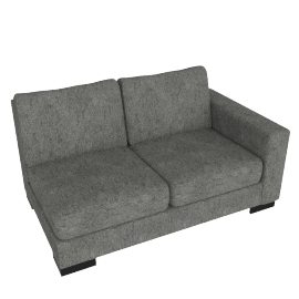Signature 2 Seater With Right Arm, Silver Gray