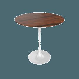 Saarinen Side Table - Rosewood - White.Rosewood