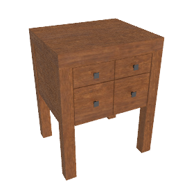 Kerala Bedside Table