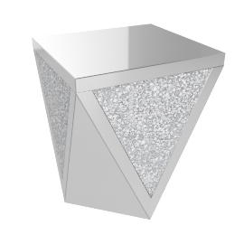 Crystal End Table, Silver