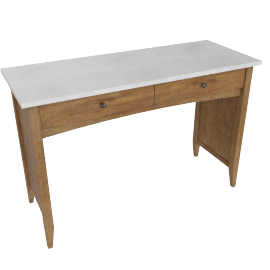 Springfield 2 Drwr Dressing Table-L.Oak/A.Silver