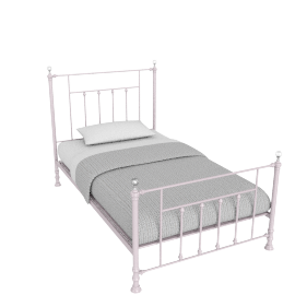 Alice 120x200 Metal Bed, Pink