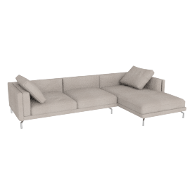 Como Sectional Right Chaise, Pebble Weave Buff