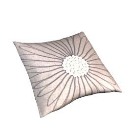 Felt Daisy Cushion, Grey